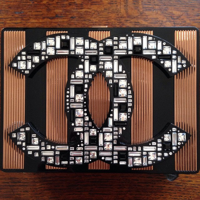 Chanel Large CC Clutch with Tiled Crystal - Fall Winter 2015
