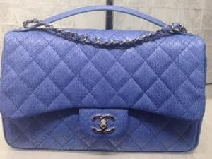 Chanel Purple Watersnake Easy Carry Medium Bag