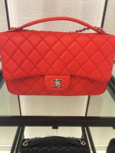 Chanel Red Easy Carry Large Bag