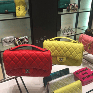 Chanel Red/Yellow Easy Carry Large Bags