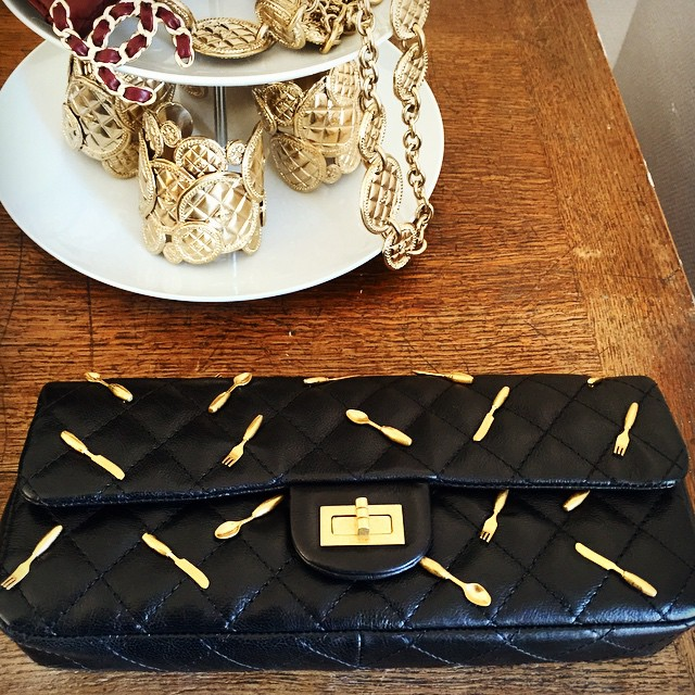 Chanel Reissue Clutch with Spoon Charms - Fall Winter 2015
