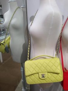 Chanel Yellow Easy Carry Large Bag