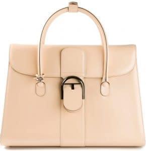 Delvaux Beige Brillant Double Poignée Bag