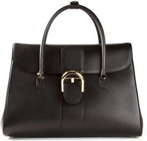 Delvaux Black Brillant Double Poignée Bag