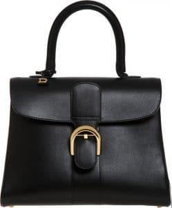 Delvaux Black Brillant MM Bag
