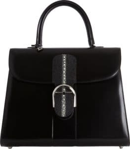 Delvaux Black Calfskin/Stingray Brillant GM Bag