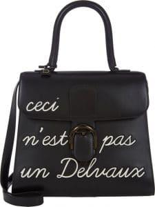 Delvaux Black L'Humour Brillant MM Bag