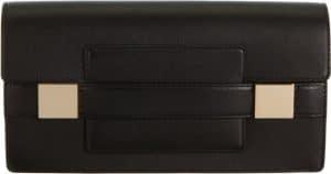Delvaux Black Madame Pochette Bag