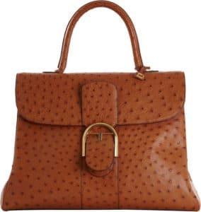Delvaux Brandy Ostrich Brillant GM Bag