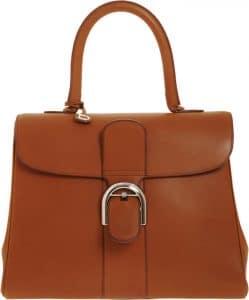 Delvaux Cognac Brillant MM Bag