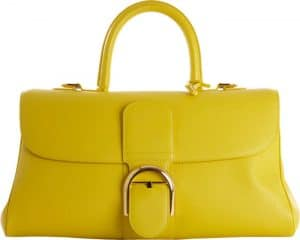 Delvaux Mimosa Yellow Brillant East West Bag