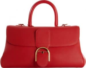 Delvaux Robin Red Brillant East West Bag