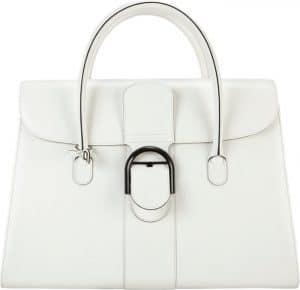 Delvaux White Brillant Double Poignée Bag