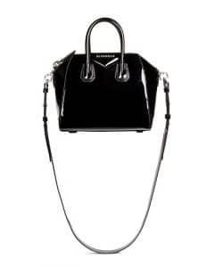 Givenchy Black Patent Antigona Mini Bag