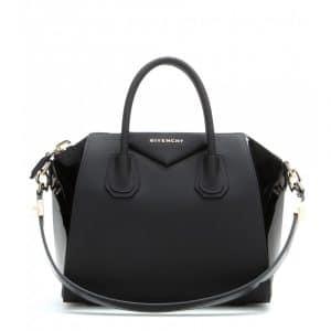 Givenchy Black Patent/Matte Leather Antigona Small Bag