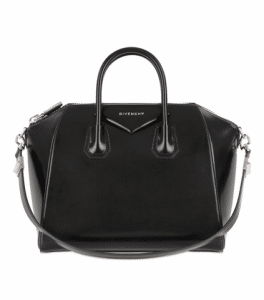 Givenchy Black Shiny Leather Antigona Medium Bag