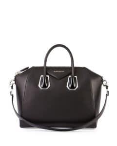 Givenchy Black with Plexi Hardware Antigona Medium Bag