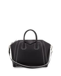 Givenchy Black/White Two-Tone Antigona Medium Bag