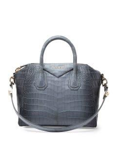 Givenchy Gray Crocodile Antigona Small Bag