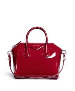 Givenchy Wine Red Patent Antigona Small Bag