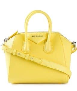 Givenchy Yellow Antigona Mini Bag