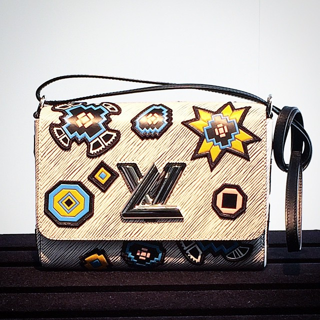 Louis Vuitton Epi Printed Twist Lock Bag - Fall Winter 2015