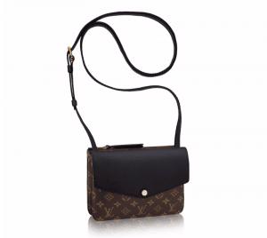 Louis Vuitton Noir Monogram Canvas Twinset Bag