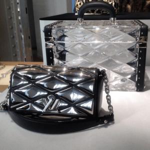 Louis Vuitton Transparent Mini Trunk and Metallic Twist Bags - Fall 2015
