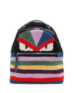 Fendi Monster Backpack Shearling Multicolor