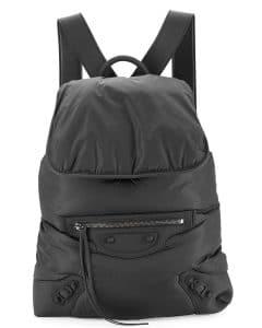 Balenciaga Black Traveler Nylon Backpack