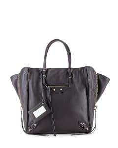 Balenciaga Gray Papier Zip Around Tote Bag