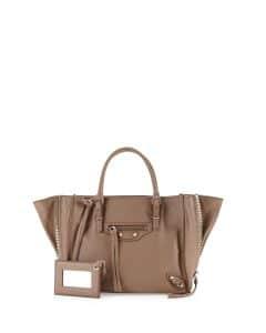 Balenciaga Tan Papier A4 Mini Zip-Around Tote Bag