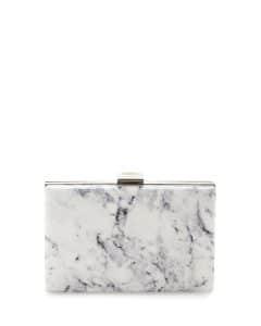 Balenciaga White Marble Le Dix Box Minaudiere Bag