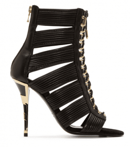 Balmain Black Hopi Stiletto Sandals