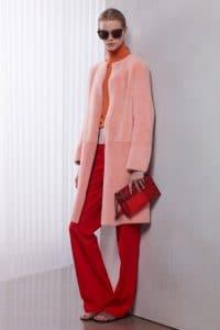 Bottega Veneta Red Mangrovia Flat Shoulder Bag - Resort 2016
