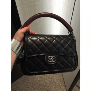 Chanel Black Prestige Flap Large Bag