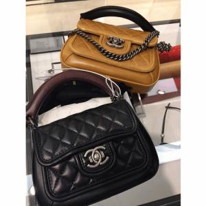 Chanel Black/Tan Prestige Flap Bags
