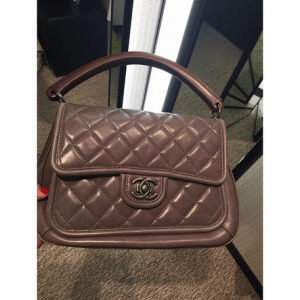 Chanel Grey Prestige Flap Large Bag 2