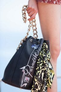 Dior Black Printed Bucket Bag - Cruise 2016