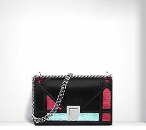 Dior Black with Sequins Diorama Mini Bag