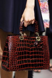 Dior Black/Red Crocodile Diorissimo Bag - Cruise 2016