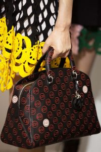 Dior Black/Red Logo Patterned City Bag - Cruise 2016