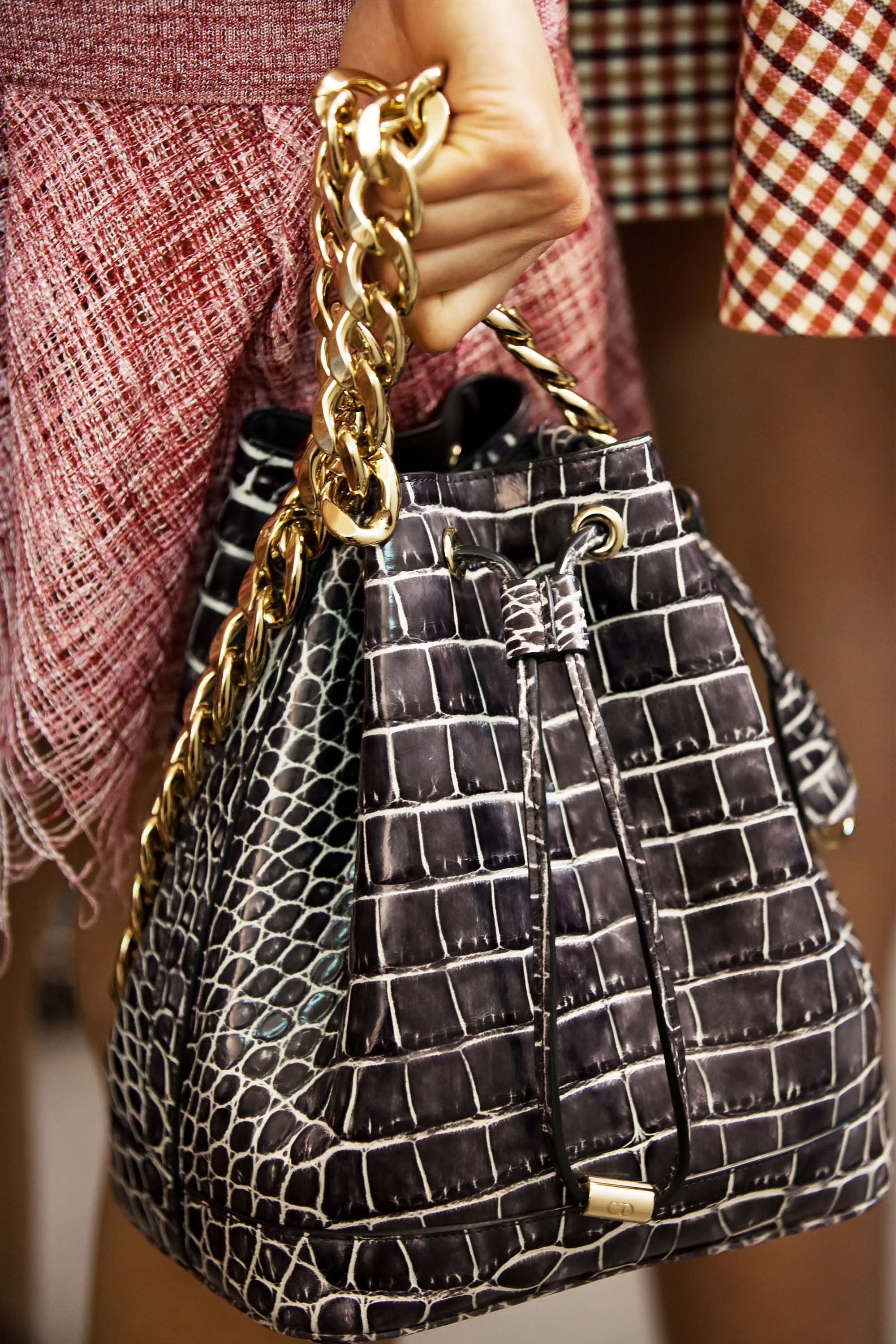 Dior Cruise 2016 Runway Bag Collection Featuring Chain Bucket Bag ... 327a62589c149