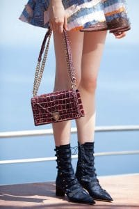 Dior Burgundy Crocodile Diorama Bag - Cruise 2016
