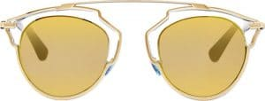 Dior Crystal/Gold So Real Sunglasses