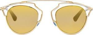 Dior Crystal/Gold So Real Sunglasses