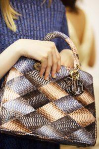 Dior Multicolor Python Diorissimo Bag - Cruise 2016