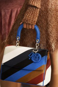 Dior Multicolor Striped Be Dior Bag - Cruise 2016