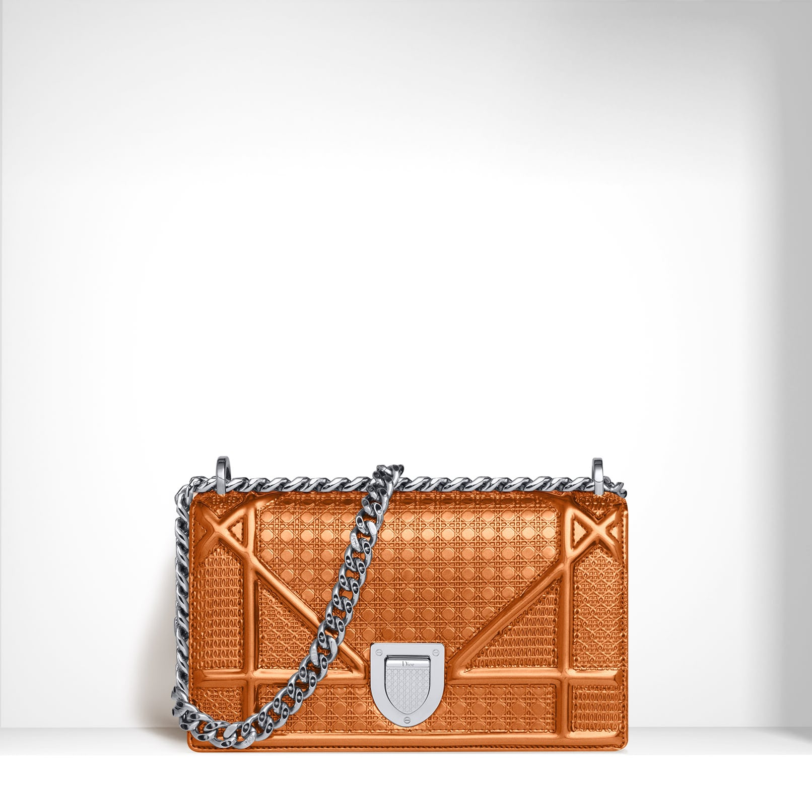 b2841f7eb2a8 Diorama and Lady Dior Metallic Perforated Bags from Pre-Fall 2015 ...