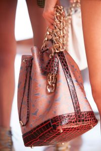 Dior Pink/Red Floral/Crocodile Bucket Bag - Cruise 2016